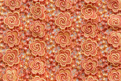 Orange lace on white background. No any trademark or restrict matter in this photo.  Royalty Free Stock Photo