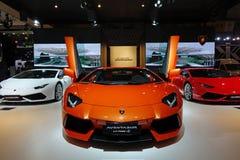 Orange Lamborghini  Aventador lp700-4 Royalty Free Stock Photography