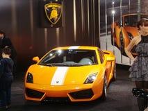 Orange Lamborghini Gallardo Stockfoto