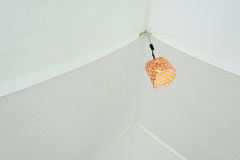Orange Lamp in Bamboo rattan baskets Stock Images