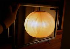 Orange lampa Fotografering för Bildbyråer
