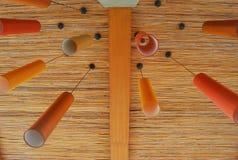Orange lampa med modern stil Fotografering för Bildbyråer
