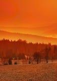 Orange landskap Royaltyfri Fotografi
