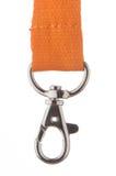 Orange Lanyeard cord Royalty Free Stock Images