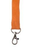 Orange Lanyeard-Schnur Stockbild