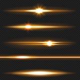 Orange laser beams pack Royalty Free Stock Images