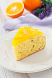 Orange and lavender cake Royalty Free Stock Photo