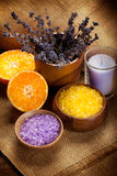 Orange and lavender minerals Royalty Free Stock Image