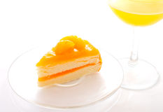 Orange layer cake Royalty Free Stock Photos
