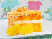 Orange layer cake Stock Photos