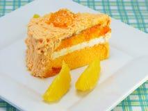 Orange layer cake Royalty Free Stock Photo
