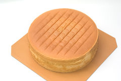 Orange layer cake just out of the oven Royalty Free Stock Photos