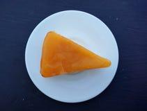 Orange layer cake, top view Stock Images