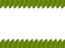 Orange leaf frame isolated on white background Royalty Free Stock Images