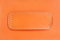 Orange leather Stock Photos