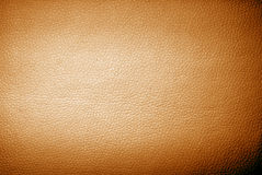 Orange leather Stock Photo