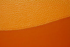 Orange Leather Stock Image