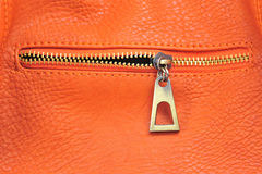 Orange leather Royalty Free Stock Image