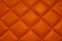 Orange leather. Orange leather texture of the background Royalty Free Stock Photos