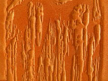 Orange leather abstract Royalty Free Stock Image