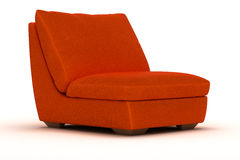Orange Leather Armchair Royalty Free Stock Photography