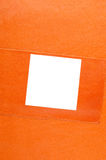 Orange leather background Royalty Free Stock Photos