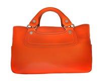 Orange leather bag Royalty Free Stock Image