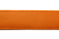 Orange leather belt on white background Stock Image