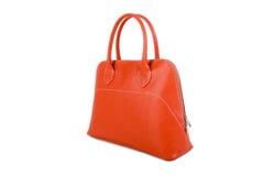 Orange Leather Handbag Royalty Free Stock Photos