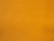 Orange leather texture Stock Photo