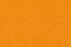 Orange leather texture as background Royalty Free Stock Photo