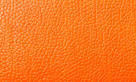 Orange Leather texture, backdrop Stock Images