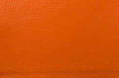 Orange leather texture background Stock Photo
