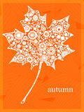 Orange leave. Maple autumn orange leave background vector illustration