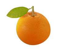 Orange with leave. Orange isolated on a white surface Stock Photography