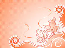 Orange leaves background Royalty Free Stock Photos