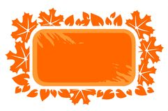 Orange Leaves Frame Royalty Free Stock Photography