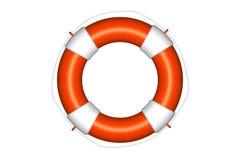 Orange Lebenboje mit dem Seil getrennt Lizenzfreie Stockbilder