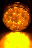 Orange led. An orange light emitting diode royalty free stock images
