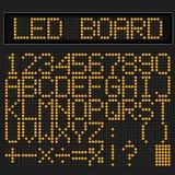 Orange LED digital font Stock Photo