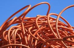 orange leda i rör fotografering för bildbyråer