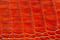 Orange lederne Beschaffenheit Stockbild