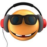 orange leende för emoticon 3d Royaltyfria Bilder