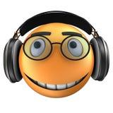 orange leende för emoticon 3d Arkivfoton