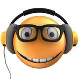 orange leende för emoticon 3d Royaltyfri Foto