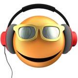 orange leende för emoticon 3d Arkivfoto