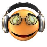 orange leende för emoticon 3d Royaltyfri Bild