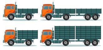 Orange leerer LKW, Vektorillustration Lizenzfreies Stockfoto
