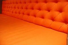 Orange Lehnsessel Stockfoto