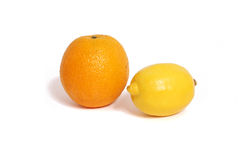 Orange lemon Stock Images